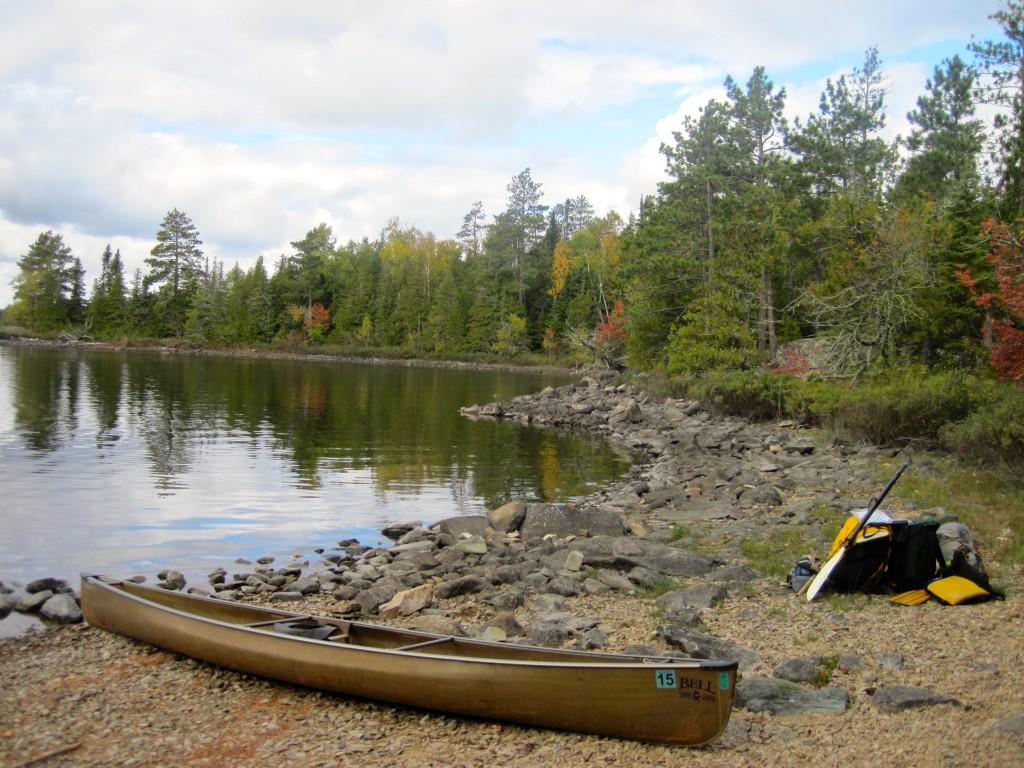 Saganaga Lake Quetico canoe trip starting point