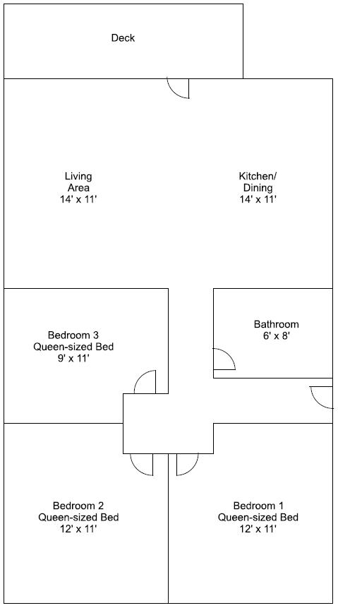 Cabin 5 floor plan