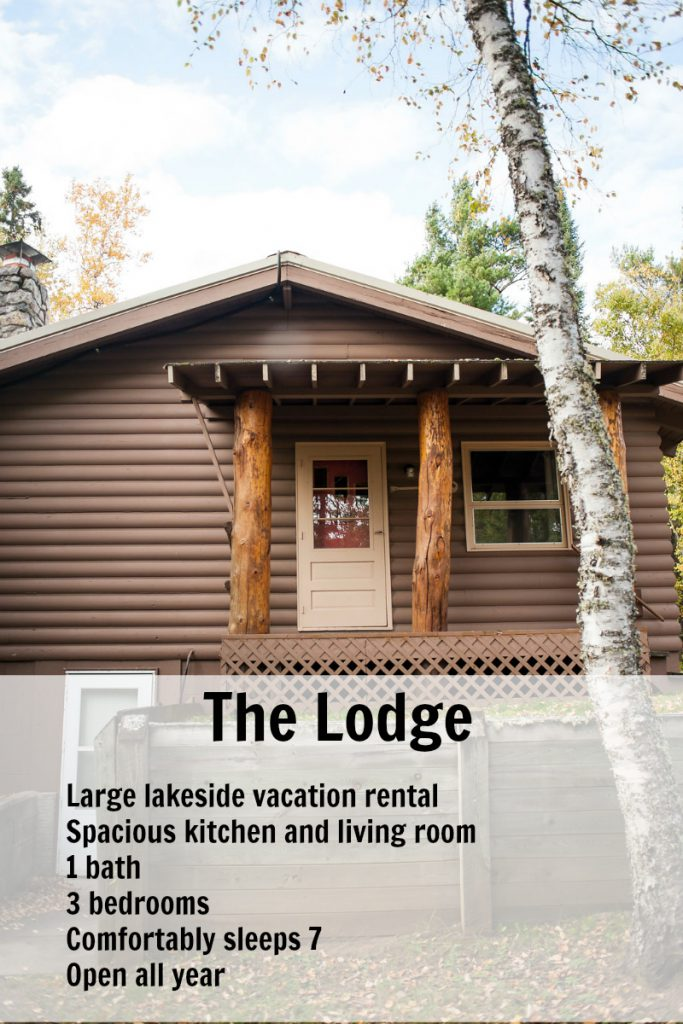 Large Gunflint Trail rental option for groups, meetings, family reunions