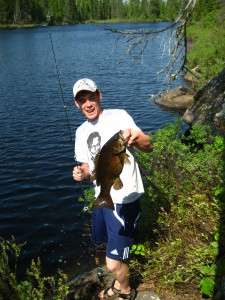 Smallmouth caught on Cross Bay Lake in the BWCA.
