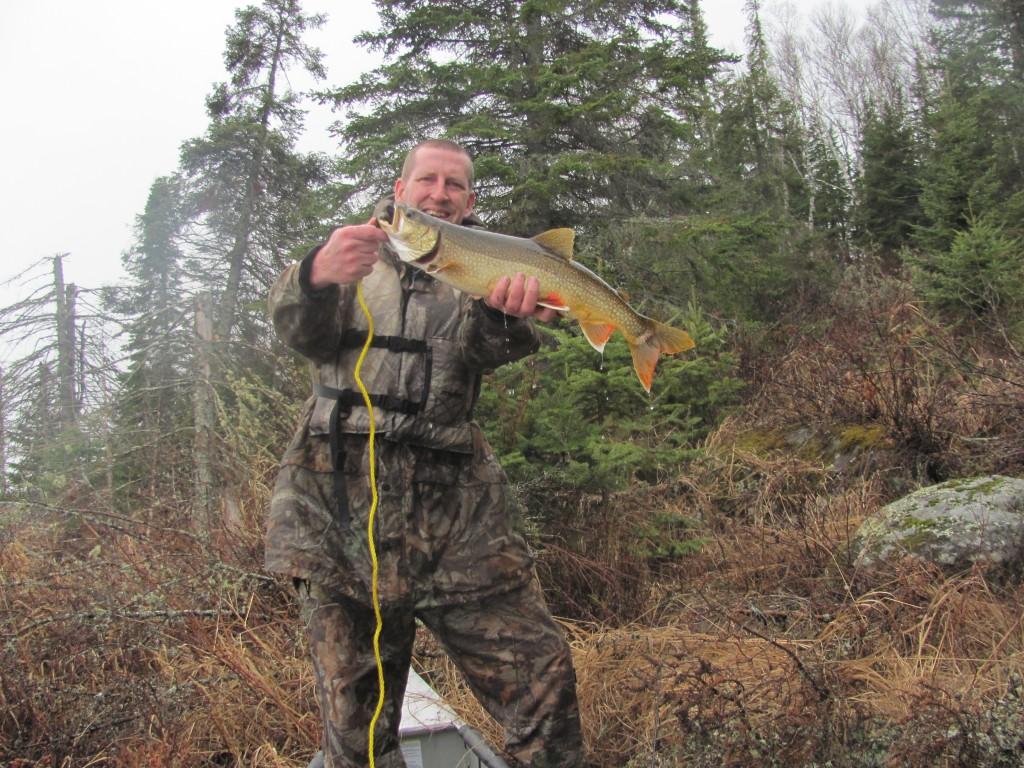 An early season laker caught on Tuscarora Lake.