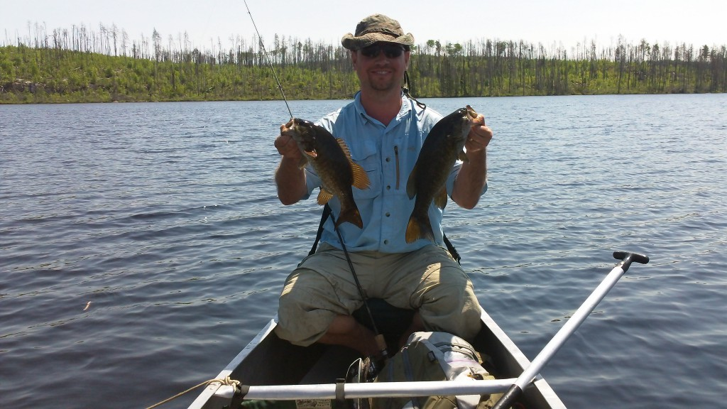 A double smallmouth day on Teepee lake in the BWCA.