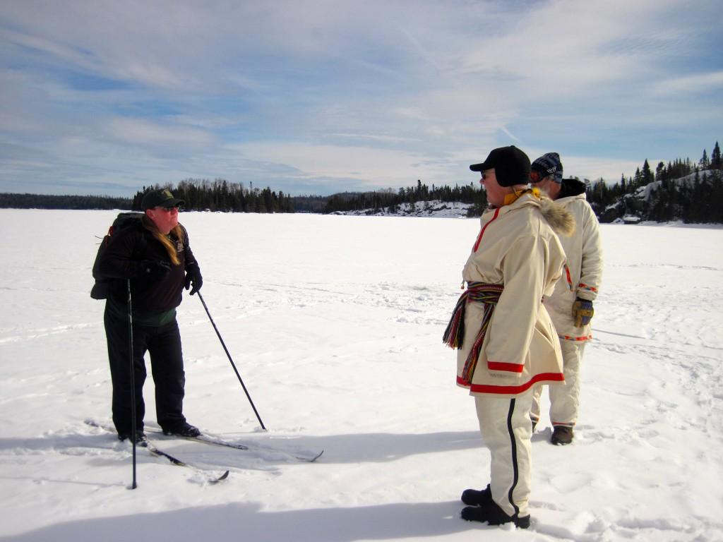 U.S. Forest Service wilderness ranger winter camper check