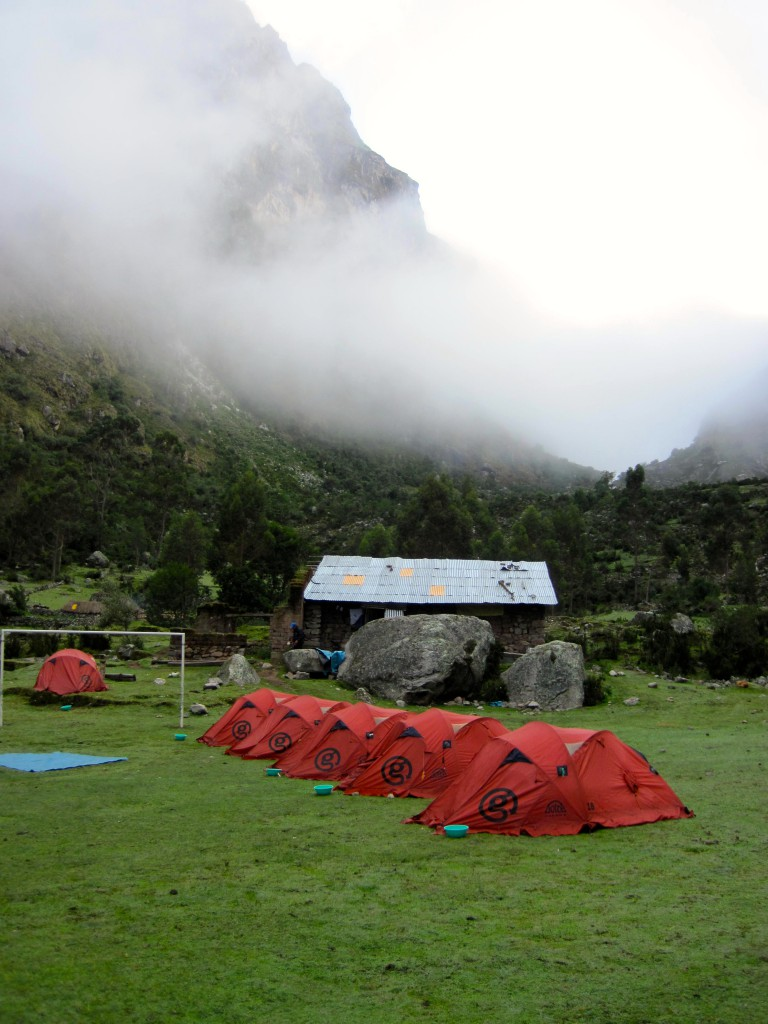 Second campsite on the Lares Trek near Chupani Incan ruins