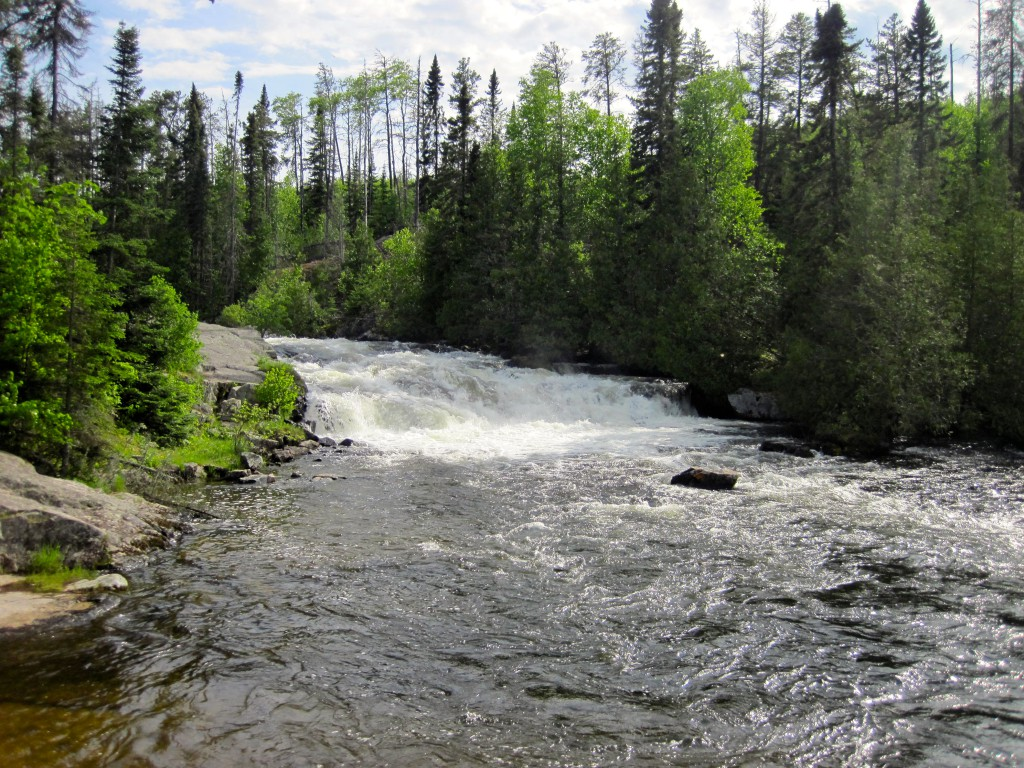 Little Rock Falls between Magnetic Lake and the Granite River along the Gunflint Trail