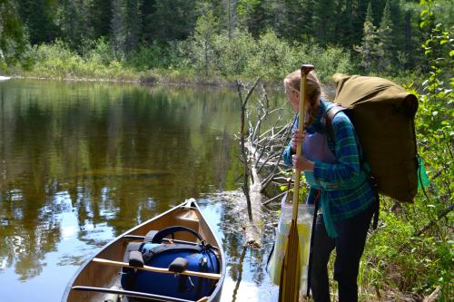 Quetico Canoe Portage landing