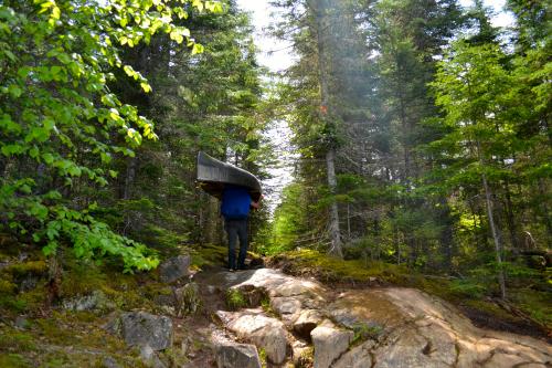 Quetico Provincial Park Kevlar Canoe Portage