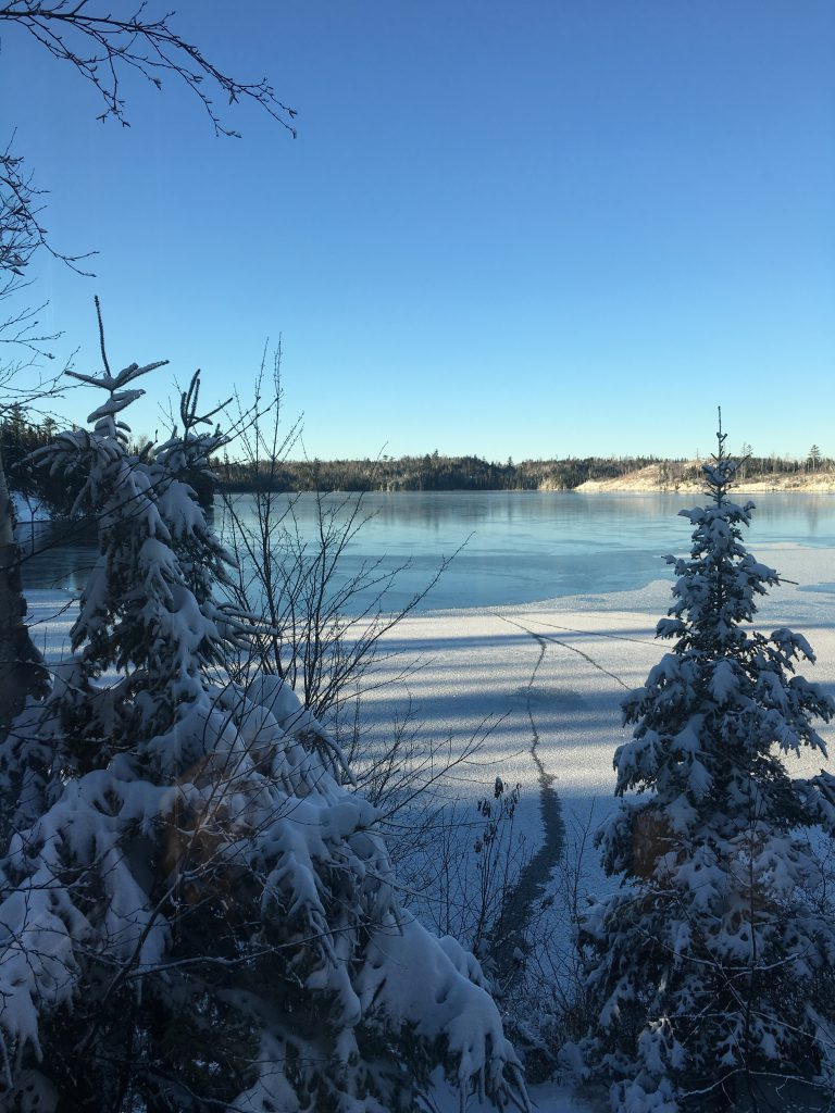 Frozen Round Lake near the BWCAW on the Gunflint Trail