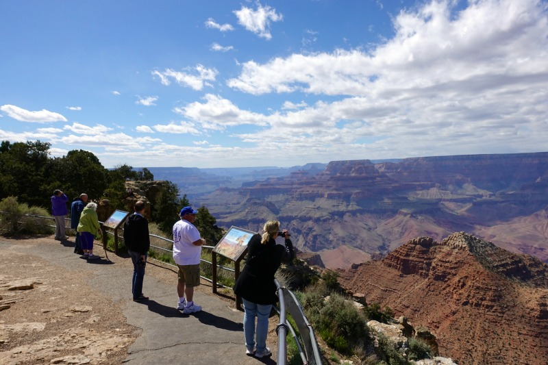 Tourists Grand Canyon